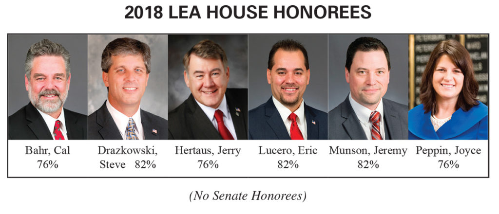 2018 LEA Honorees